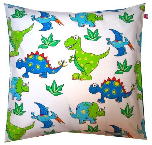 TryPinky TR-2014-44 - Funda de cojín (50 x 50 cm), diseño de dinosaurios, color azul y verde