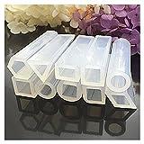 Dxlta 10 Pcs/Set Cuboids Silicone Moule Résine Moule Pendentif pour DIY Bijoux Perles Fabrication