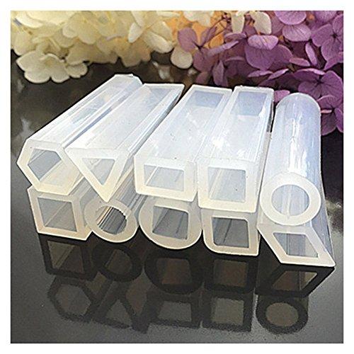 Symbat 10 Pcs/Set Cuboids Silikonform Harz Anhänger für DIY Schmuck Perlen Herstellung (Anhänger Perle Schokolade)