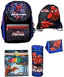 Spiderman Rucksack Jungen Tornister Schulrucksack Schultasche SET 5 teilig ab Grundschule super leicht nur 600g