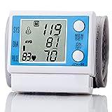 Misuratore di Impulsi del Battito Cardiaco del Monitor di Pressione Sanguigna del Polso di Digital LCD Automatico