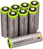 AmazonBasics Lot de 8 piles Ni-MH rechargeables Type AA 500 cycles 2500 mAh/minimum 2400 mAh (design...