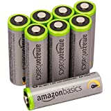 AmazonBasics Lot de 8 piles Ni-MH rechargeables Type AA 500 cycles 2500 mAh/minimum 2400 mAh (design variable)