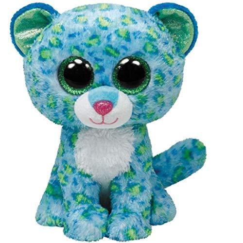 "Beanie Boo Leopard - Leona - Green/Blue - 24cm 9"""