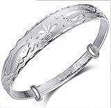 NANHONG 925 Sterling Silber Armband - Fische 3D Relief