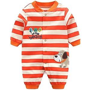 Bebs-Pijama-Algodn-Mameluco-Nias-Nios-Peleles-Sleepsuit-Caricatura-Trajes-3-6-Meses
