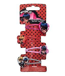 Joy Toy 65981figuras and charactere Miraculous horquillas de 4diseños de a backercard 5x 1x 15cm, Girls