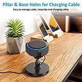 Babacom Table Holder for Echo Dot 3rd Generation, 360° Adjustable Stand Bracket Mount for Smart Home Speaker, Improves Sound Visibility and Appearance, Dot Accessories (Black)