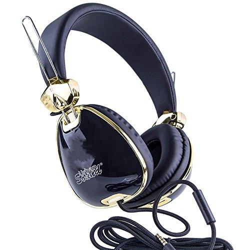 Urban Sound On-ear Kinder Retro Kopfhörer Headset mit Anrufannahme & Mic Headphone für MP3 & MP4 Player, Smartphone & Tabet mit 3.5 Klinkenstecker Schwarz