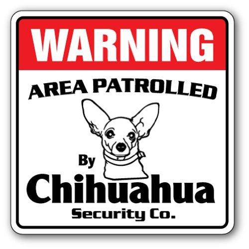 SignMission Chihuahua Sicherheit Schild |-| Funny Home Décor für Garagen, der Wohnzimmer, Schlafzimmer, Büros Bereich 'Pet Funny Nadia Gag ACHTUNG Wasserspeier Züchter Schild, Dekoration