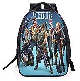 Fortnite Unisex Mochila Escolar para Niño y Niña Moda Mochilas Backpack Rucksack de Viaje Adolescentes Daypack Bolsas Satchel