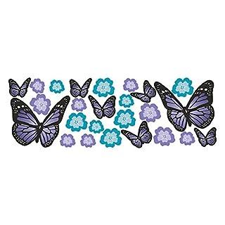 Alenio Wall Sticker–Butterflies & Flowers–sheet size approx 67x23cm