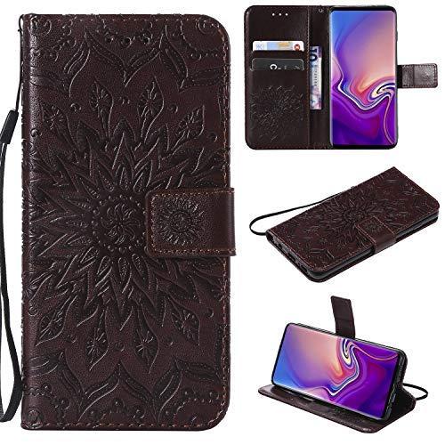 QiXYuan Business-Design Ledertasche für Microsoft Lumia 650 Hülle/Lumia 650 Dual-SIM Handyhülle, Ledertasche Flip Handyhülle Stand Case (Brown) TPU-Handyhülle. SF5