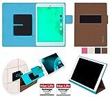 reboon Hülle für Blaupunkt Polaris 7 Tasche Cover Case Bumper | in Braun | Testsieger