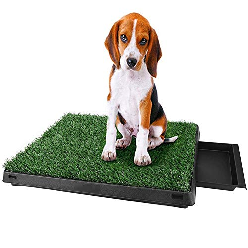 V.JUST Pet Dogs Indoor-WC Hundematte Trainingsunterlage Pet Potty Trainingsunterlagen Mit Tablett Und Loo Pad - Pet-loo