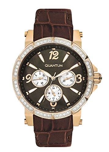 QUANTUM Damen-Armbanduhr Impulse Chronograph Quarz Leder IML425.442