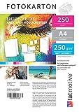 TATMOTIVE F01M250 Fotokarton Fotopapier 250g matt weiß/Laserdrucker / DIN A4 / Beidseitig bedruckbar / 250 Blatt