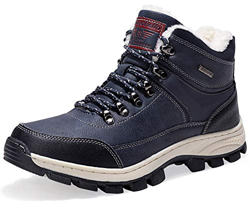 AX BOXING Winterstiefel Schneestiefel Warm Winterschuhe Stiefelette Outdoor Boots (44 EU, AA8493-Blau)