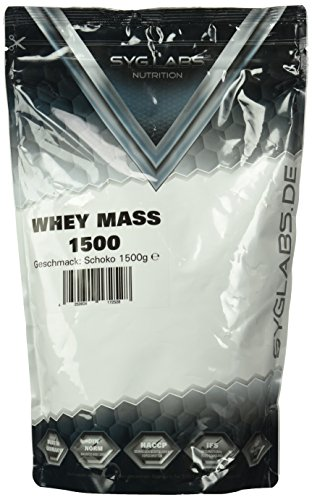 Syglabs Nutrition Whey Mass Schoko - Weight Gainer, 1er Pack (1 x 1.5 kg)
