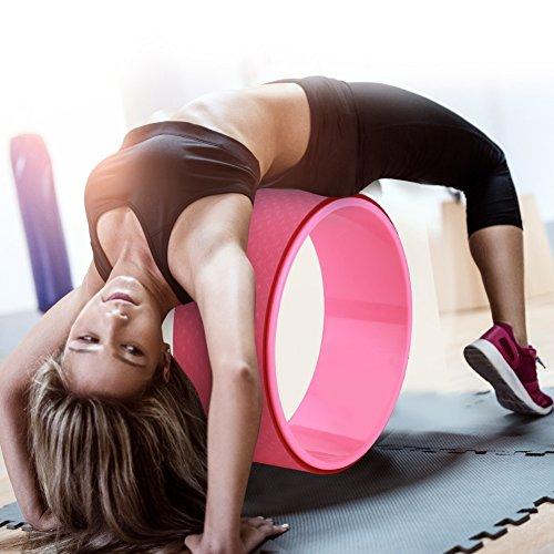 GOTOTOP 2 Farben Yoga Stretch Bend Balance Rad Kreis für Gesundheit Fitness Abnehmen Übung (Pink)