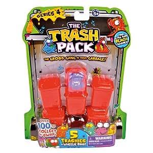 Giochi Preziosi 70681151 - Trash Pack No.4, 5 Figuren mit 5 Mülltonnen