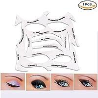 Modelos profesionales de patrones de plantillas para la belleza de los ojos 3 en 1: ojos de gato, delineador, ojos ahumados, sombra de ojos, cejas. Equipo de patrones de plantillas reutilizables que cumplirá todas tus necesidades para la belleza de tus ojos.