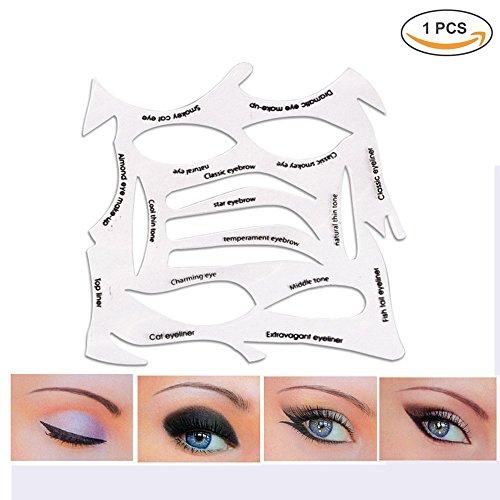 Eye Beauty Schablone Modelle Vorlage 3 in 1 Cat Eyeliner Smokey Lidschatten Augenbrauen Make-up wiederverwendbare Smokey Schablone Shaper Make-up Tool Kit für Ihre Bedürfnisse alle Arten Augen Make-up