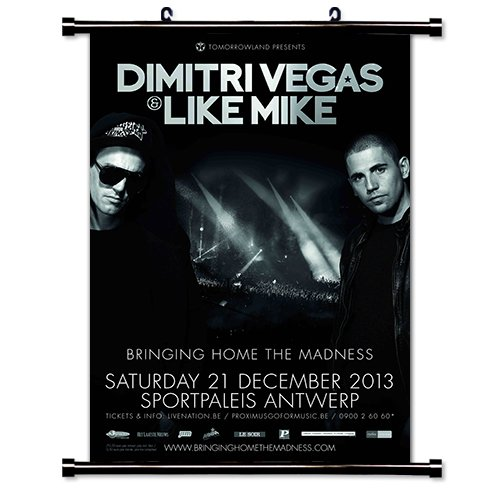 Dimitri Vegas & Like Mike EDM DJ Fabric Wall Scroll Poster (16x23) Inches