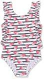 NAME IT Mädchen Badeanzug Nmfzimna Swimsuit, Mehrfarbig (Bright White), Gr. 122/128 (7/8 Jahre)