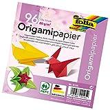Folia 9105 - Faltblätter Origami 13 x 13 cm, 80 g/qm, 96 Blatt sortiert in 12 Farben
