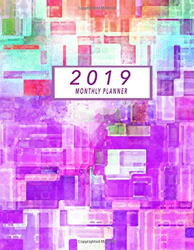 2019 Monthly Planner: 2019 Planner Monthly, Schedule Organizer Agenda Notebook Planner January 2019 - December 2019 (Aweinspiring Planners) por Asli Printz
