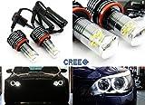 2x Cree LED Angel Eyes Halo Anello Luce H8 Lampadina Bianco E90 E92 E82 E60 E70 X5 E71 X6