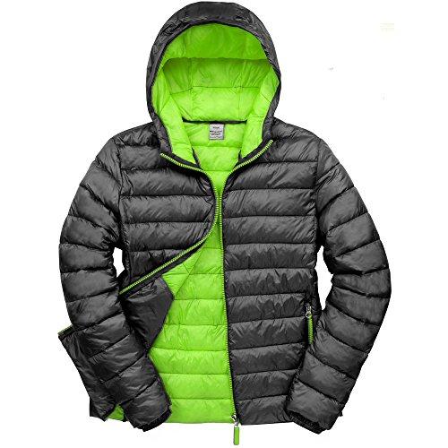 Result Urban Outdoor Mens Urban Snowbird Hooded Jacket Black/ Lime