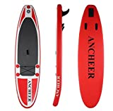 Lonlier Tabla Hinchable Paddle Surf iSUP con Paddle Ajustable, Bomba de Mano 305 x 76 x 15 cm Surf Board