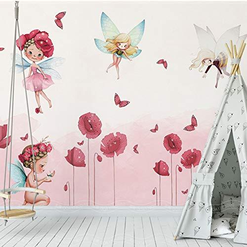 definierte Wand Handgemalte Floral Sprites Tapete Für Kinderzimmer Wohnzimmer Tv Hintergrund Wand Wohnkultur Wandtuch 500X280 CM ()