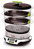 Tefal VS4003 Vitacuisine Compact  Vaporiera con Funzione Vitamine Plus, Display Digitale, Ricettario Incluso