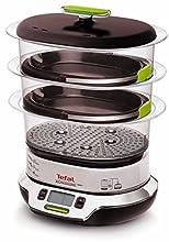 Tefal VS4003 Vitacuisine Compact Vaporiera con Funzione Vitamine Plus, Display Digitale, Ricettario Incluso