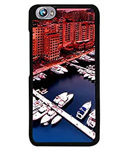 Fuson Designer Back Case Cover for Micromax Canvas Fire 4 A107 (Boat Water City Highrise Luxury Yatch)