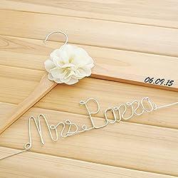 Percha Boda - color madera clara - personalizable