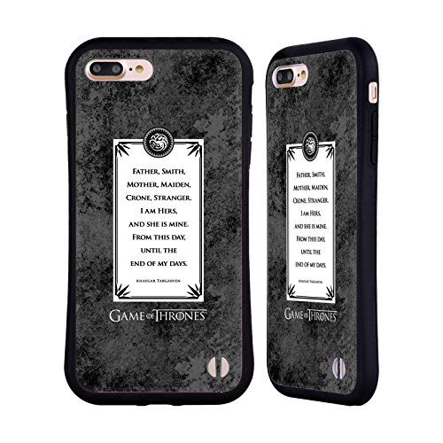 Ufficiale HBO Game Of Thrones Drago Dracarys Grafiche Case Ibrida per Apple iPhone 7 Plus / 8 Plus Rhaegar Voti