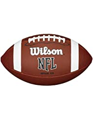Wilson Nfl Approved Official Size Bin Xb Entry Level Pvc American Football Brown by Only Sports Gear