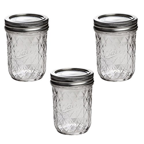 Ball Mason Quilted Crystal Jelly Jar 8oz/3er Set -