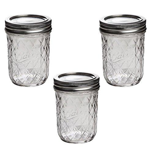 Ball Mason Quilted Crystal Jelly Jar 8oz/3er Set Crystal Jelly Jar