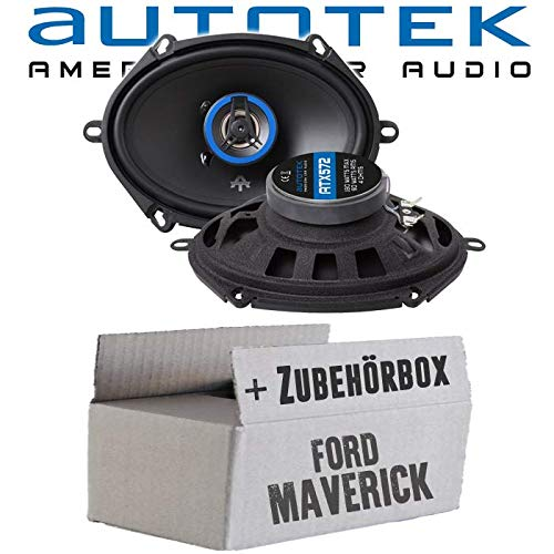 Lautsprecher Boxen Autotek ATX-572 | 2-Wege oval 13x18cm Koax Lautsprecher 5\'x7\' Auto Einbauzubehör - Einbauset für Ford Maverick 2 Front Heck - JUST SOUND best choice for caraudio