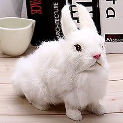 Zorbes Simulation Furry Squatting Rabbit Craft Toy