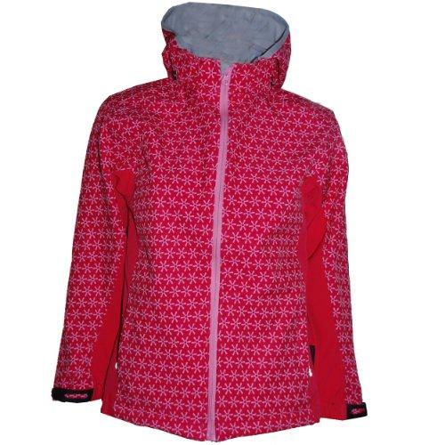 Cox Swain Kinder 3-Lagen Outdoor Softshell Jacke Hannah - 10.000mm Wassersäule 5.000mm atmungsaktiv, Colour: Pink, Size: 3/4