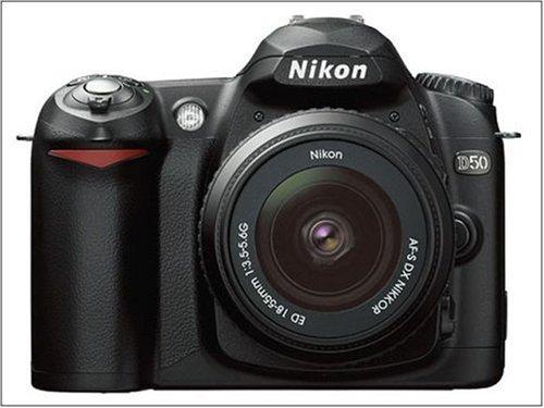 Nikon D50 SLR-Digitalkamera (6 Megapixel) schwarz + DX 18-55 - Digital D50 Kamera Nikon