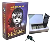 Life Up Les Miserables Creative Book Safe with Lock, Metal Case Secret Book Safe Box Money Jewellery Concealed Security Safe Box Safe Can Saving Pot Bank with Lock