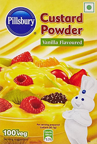Pillsbury Custard Powder, Vanilla, 100g ( Pack Of 4 )