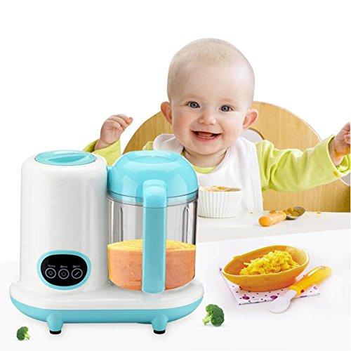 4-in-1 Mini Babynahrungszubereiter, Shsyue Küchenmaschine Fütterung Dampfgarer Mixer für Babynahrung 1050ml Fassungsvolumen